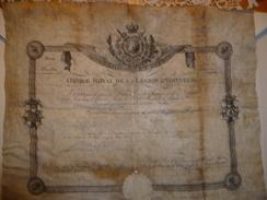 PARCHEMIN NOMINATION LEGION D HONNEUR SIGNATURE LOUIS XVIII (18) - Documents Historiques