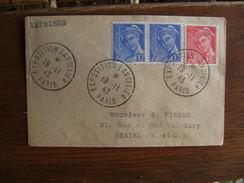1943 Exposition Lavoisier Obliteration Sur Lettre - Postmark Collection (Covers)