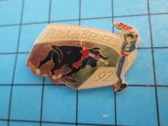 Pin513e Pin's Pins / Rare Et De Belle Qualité !! SPORTS / TAUROMACHIE CORRIDA FERIA DE BEZIERS TAUREAU VACHE 92 - Bullfight - Corrida