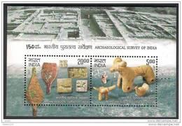 INDIA 2011 Archaeological Survey Of India, , Archaeology, Miniature Sheet,  MNH , (**) - India