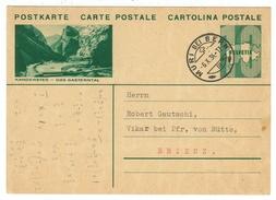 Suisse // Schweiz // Switzerland //  Entiers Postaux  // Entier Postal Au Départ De Müri( Image Kandersteg) ) - Entiers Postaux