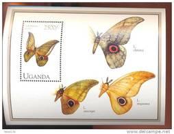 UGANDA   1231  MINT NEVER HINGED SOUVENIR SHEET OF BUTTERFLIES - Butterflies