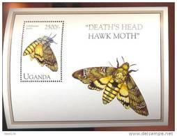 UGANDA   1230  MINT NEVER HINGED SOUVENIR SHEET OF BUTTERFLIES - Butterflies
