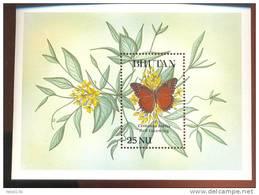 MINT NEVER HINGED SOUVENIR SHEET OF BUTTERFLIES  RED LACEWING (  BHUTAN  834 - Butterflies