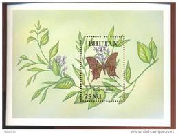 MINT NEVER HINGED SOUVENIR SHEET OF BUTTERFLIES  KAISER  I-HIND(  BHUTAN  839 - Butterflies