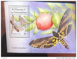 ST.VINCENT  1864  MINT NEVER HINGED SOUVENIR SHEET OF BUTTERFLIES - Papillons