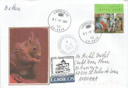 Lettonie Europa 2016, L'écologie (Ecureuil), Sur Lettre Avec Timbres à Date Arrivée Des Deux Administrations Postales - Europa-CEPT
