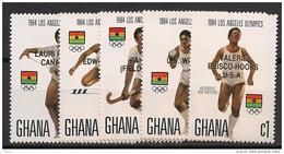 Ghana - 1984 - N°Yv. 865 à 869 - JO Los Angeles / Olympics - Neuf Luxe ** / MNH / Postfrisch - Ghana (1957-...)