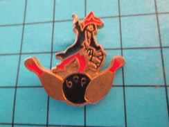 Pin513e Pin's Pins / Rare Et De Belle Qualité !! SPORTS / BOWLING PARIS SORTE DE PIRATE - Bowling