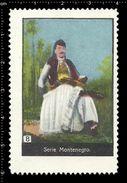 German Poster Stamps, Reklamemarke, Cinderellas, Montenegro, Soldier, Soldat - Erinnophilie
