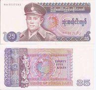 Myanmar(Burma )P-63  35 Kyats 1986 UNC - Myanmar