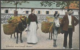 Street Costumes, Hawkers, Gibraltar, C.1905-10 - Millar & Lang Postcard - Europe