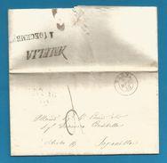 (W1-42) Italie - LAC De AMELIA Du 8/12/1855 (cachet NARNI) Vers Viterbo - ...-1850 Préphilatélie