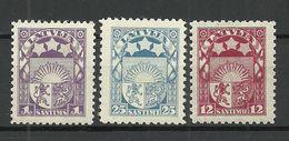 LETTLAND Latvia 1923/25 Wappe 3 Ex * - Latvia
