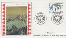 Enveloppe  1er  Jour   MONACO   Jeux   Olympiques   D' ALBERTVILLE    1991 - Inverno1992: Albertville