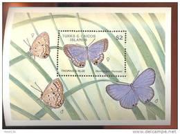 TURKS & CAICOS  ISLANDS  834  MINT NEVER HINGED SOUVENIR SHEET OF BUTTERFLIES - Butterflies