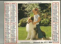 Calendrier Des Postes G-F  1984  De Saone Et Loire 71_ - Big : 1981-90