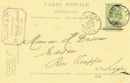 Entier Postal Armoiries BRUXELLES 1906 Vers LIEGE - Cachet Privé TALLON & Cie Photograveurs à BRUXELLES - Entiers Postaux