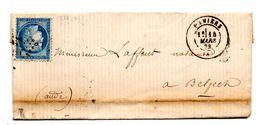 LETTRE DE 1873 DE PAMIERS (09) A BELPECH (11) - 1849-1876: Periodo Clásico