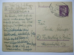 Deutsches Reich - 1944 Postkarte - Stuttgart - Wurzburg Bahnpost - Germany