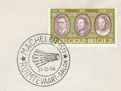 1964 Machelen SPACE EVENT COVER Belgium  Stamps - Europe