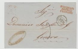 Tur163 / Franz. Posr Aus Smyrne 1864. Alle Stempel Klar - 1837-1914 Smyrna