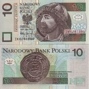 "POLAND   10 Zlotych   P173   ""1994""    UNC - Pologne"