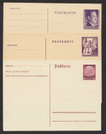 Generalgouvernement, 3 Versch. Ganzsachenkarten, * - Besetzungen 1938-45