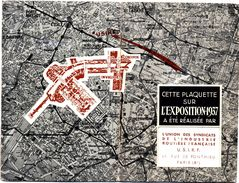 PLAQUETTE PROGRAMME DE L'EXPOSITION DE 1937 PARIS - Programs