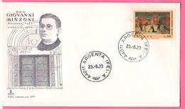FDC Italia 50 Lire Don Minzoni 1973 - 1946-.. République
