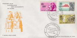 Enveloppe  FDC  1er  Jour    TOGO   Sauvegarde  Des  Monuments  De   Nubie   1964 - Egyptologie