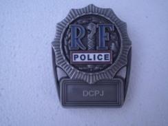 Plaque De Ceinture Police DCPJ !!état Neuf!!RARE, à Collectionner - Police