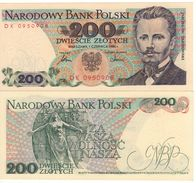 """POLAND   200 Zlotych   P144c   """"1986""""    UNC - Pologne"""