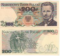 """POLAND   200 Zlotych   P144c   """"1986""""    UNC - Polen"""