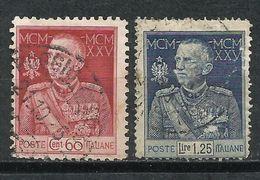 Italia. 1925-26. Jubilar Del Rey VÍctor Emmanuel III - 1900-44 Victor Emmanuel III