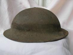 WW1 COQUE DE CASQUE AMERICAIN MODELE1917 1 ERE GUERRE PEINTURE ANTIREFLET - 1914-18