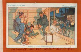 CPA  MESSAGERIES MARITIMES  CROQUIS D'ESCALE NAGASAKI  Au Restaurant Japonais  ILLUSTRATEUR   GERVESE, H.  NOV  2017 539 - Gervese, H.
