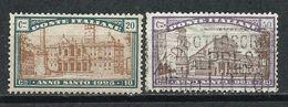 Italia. 1924. Conmemorativos Al Año Jubilar. 1925 - Usados