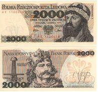 "POLAND   2'000 Zlotych   P147b   ""1979""    UNC - Pologne"