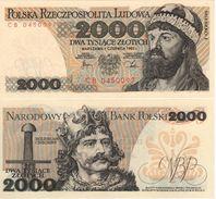 """POLAND   2'000 Zlotych   P147c   """"1982""""    UNC - Polen"""