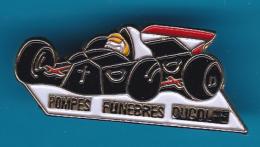 52638-Pin's.Rallye F1.Pompes Funèbres Du Golfe, à Sainte-Maxime - Car Racing - F1
