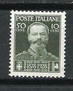 Italia. 1929. A Beneficio De Los Veteranos De Guerra. - 1900-44 Victor Emmanuel III