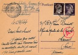 Carte Entier Postal Phumspring Uber Herzberg WWII Censure - Allemagne