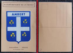 CPSM - Carte Postale Autocollant Adhésif - Blason De La Ville D'AMBERT - Editions PMC - Autocollants
