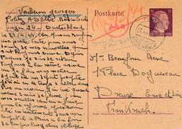 Carte Entier Postal Politz Uber Bodenbach WWII Censure - Allemagne