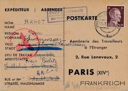 Carte Stauding Cachet Gross Peterswald WWII Censure - Allemagne