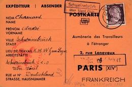 Carte Varel Oldb Cachet Schweinebruch WWII Censure Zone Occupée - Allemagne