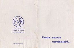 Automobiles FN Fabrique Nationale D'Armes De Guerre à Herstal (Belgique) - Prospectus FN 10 CV Modèle Astrid - Années 20 - Publicidad