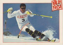 Alberto Tomba, Con Autografo (fronte E Retro) - Personalità Sportive