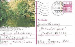 Deutschland Bildpostkarte Rheda-Wiedenbrück; Emsaue,  Gestempelt Bremerhaven - Bildpostkarten - Gebraucht